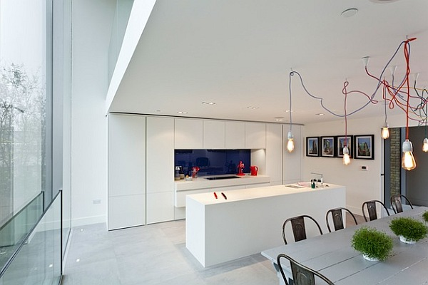 white kitchen and island
