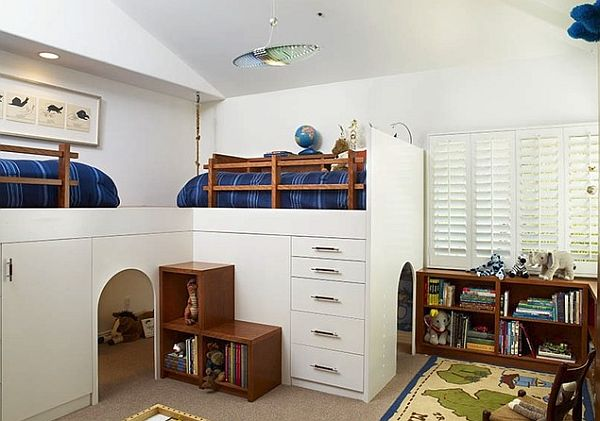 Stylish loft beds for kids 8 creativeideas for Bedroom furniture for 8 year old boy