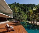 wood deck at the pool