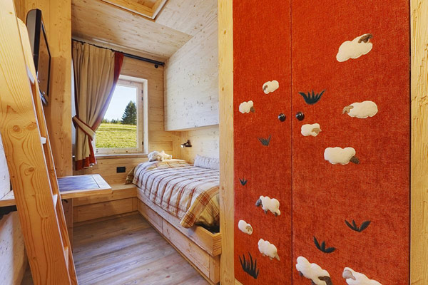 wooden kids bedroom