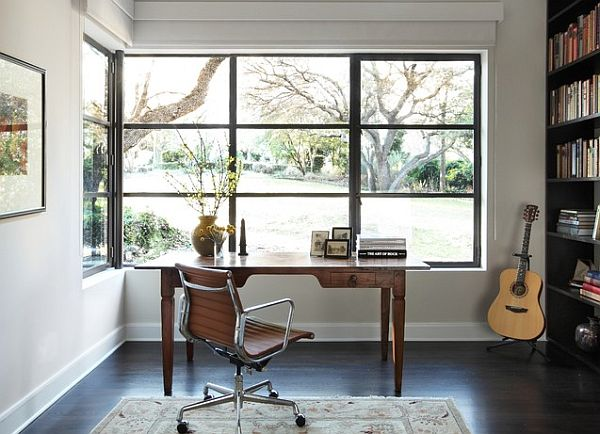 writing desk at window Writing Desk Designs to Individualize Your Working Space