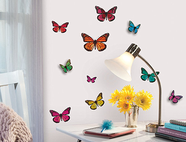 3 D butterfly wall decals 20 Creative Wall Decals for Kids