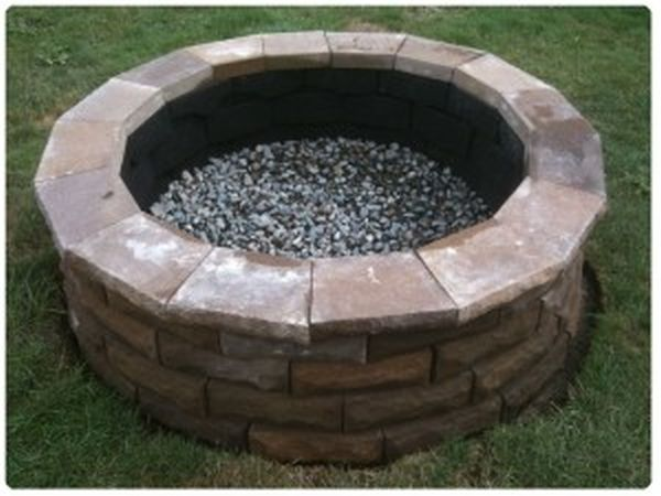 A DIY cement paver fire pit