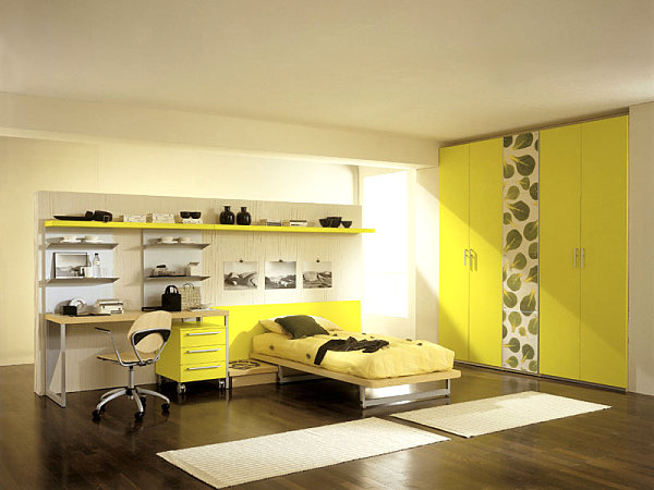 Acid yellow bedroom