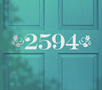 Address door decal