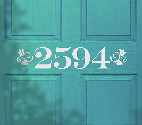 Address door decal Door Decals Give Life to Your Home Design