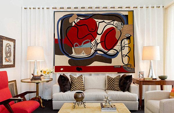 Artistic living room decor