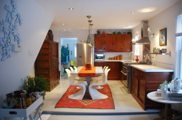 Beautiful kitchen inspired by an Asian theme with an eclectic touch