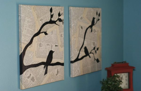 Diy Wall Art Using Newspaper : Diy decorating tips using upcycling techniques