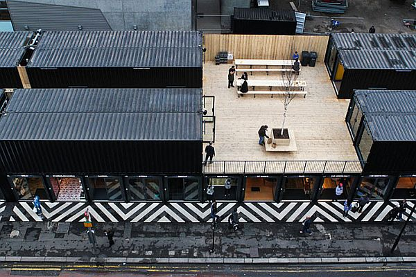 Boxpark Shoreditch being brought to life
