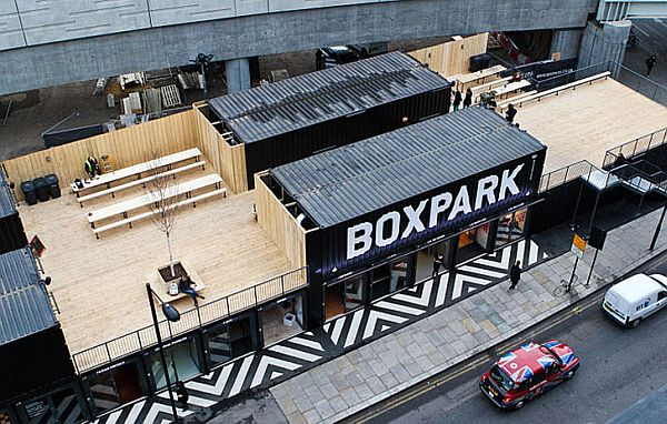 Boxpark Shoreditch took 61 container units to create