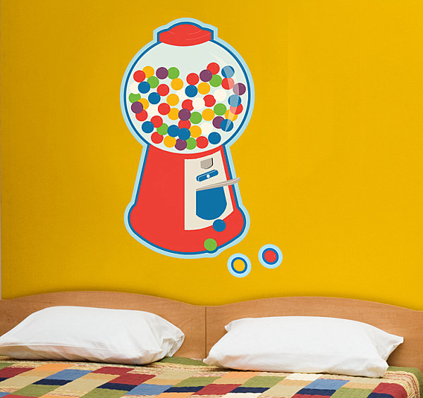 Bubblegum machine wall decal