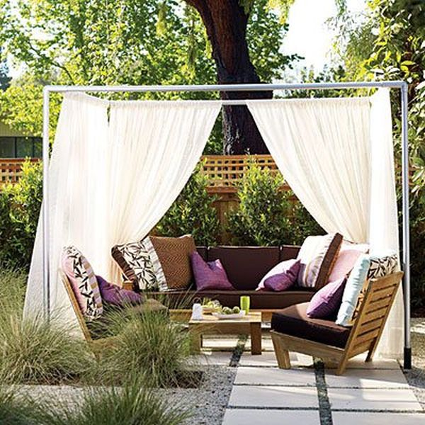12 diy inspiring patio design ideas for Garden cabana designs