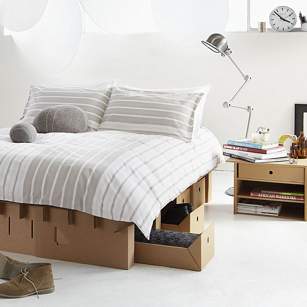 Cardboard bedroom furniture