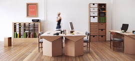Cardboard furniture from Karton