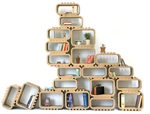 Cardboard modular shelving