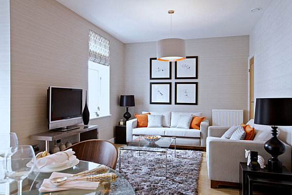 View in gallery Clear coffee tables open up the space How to Decorate a Small Living Room