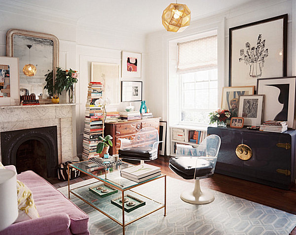 Stupendous Small Home Office In Living Room Euskal Net Largest Home Design Picture Inspirations Pitcheantrous
