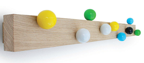 Colorful ball wall hooks