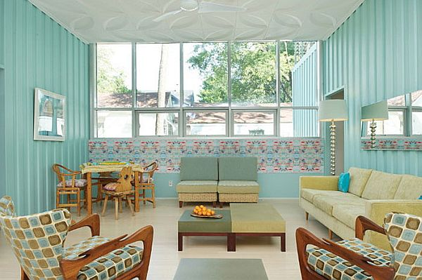 Colorful decor give the home a vibrant look