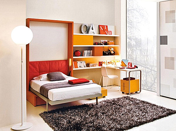 Colorful hideaway bed
