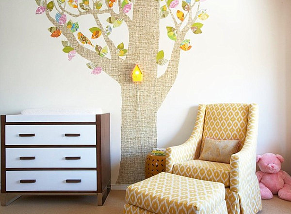 Colorful tree decal