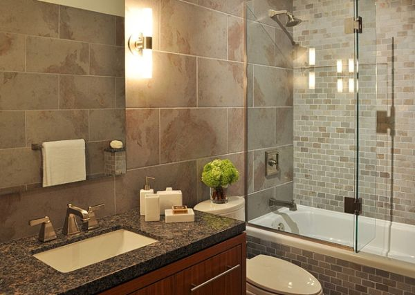 View In Gallery Compact Bathroom With Elegant Shower Space Encased In Glass
