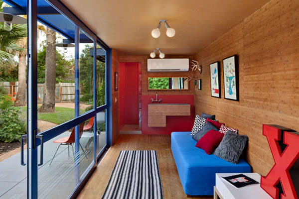 Compact interiors filled with vivid decor
