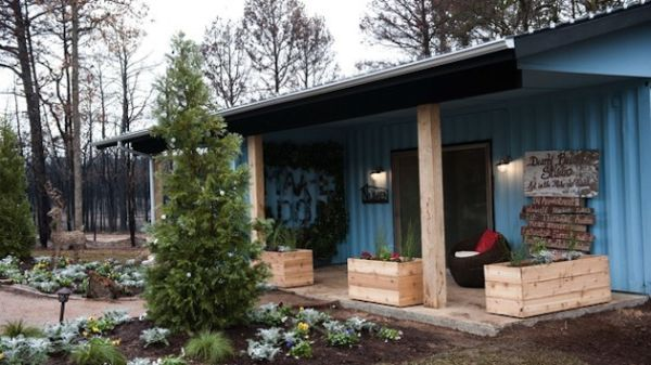 Conatiner Home designed to help the faily recover from a fire accident