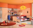 Contemporary Colorful Kids' Bedroom with a Vivacious Trundle Bed