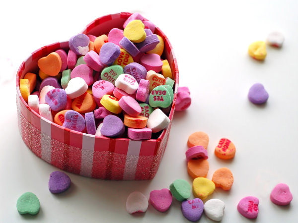 Conversation hearts for Valentine's Day