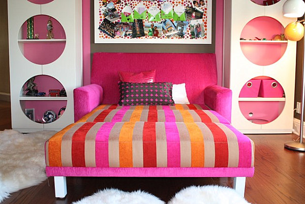 Convertible sofa bed for a child's room