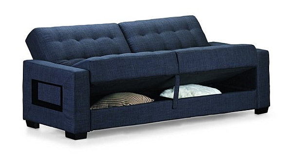 Convertible sofa bed storage