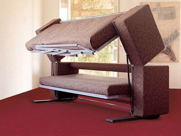 Convertible sofa bunk