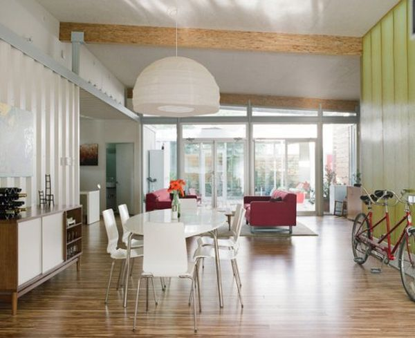 Cordell Shipping Container House- Smart use of flowing spaces
