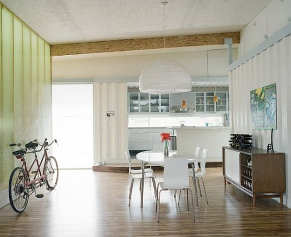 Cordell Shipping Container House- Striking pendant lamp steals the show
