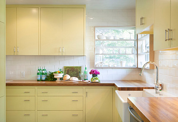 Make the most of your corner windows for Kitchen designs with corner windows