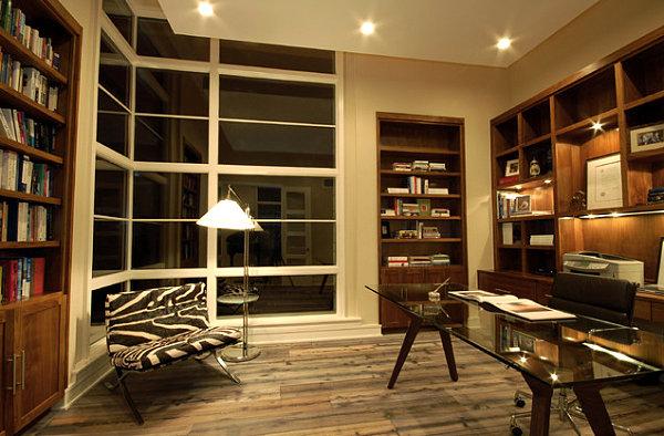 Corner window reading nook