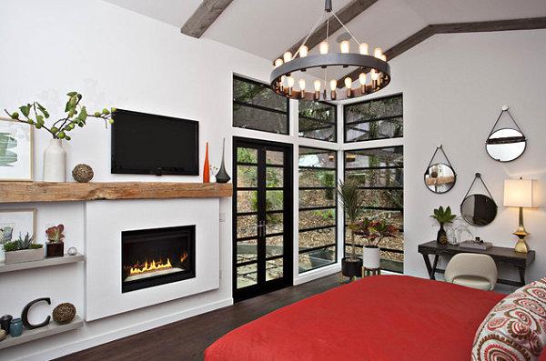 Corner window with plants