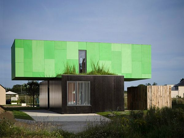 CrossBox Shipping Container House- Vivacious from the outside