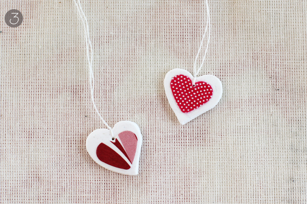 Cute and Classic  Decoupage Heart Necklace