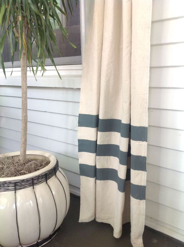 Diy Blue And White Striped Curtains Schulweg Schulweginfo