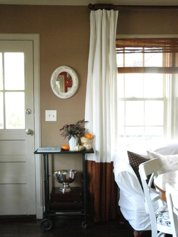 A DIY way to boost plain curtains