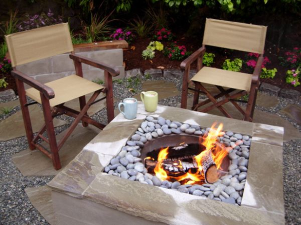 A beautiful DIY stone fire pit
