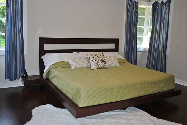 Diy floating platform bed that is sturdy and looks beautiful