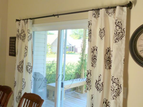 DIY stencil curtains
