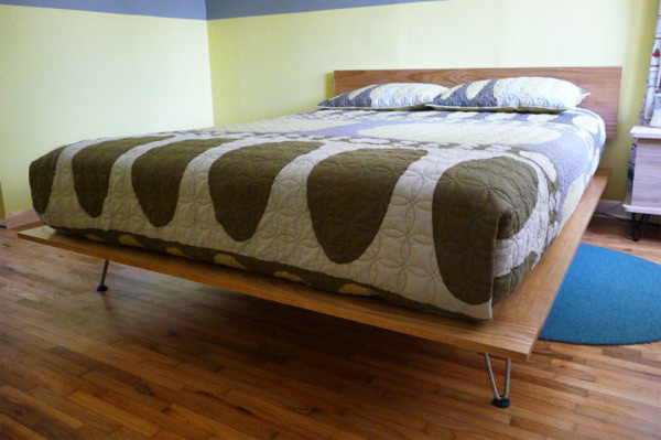 view in gallery diy traditional platform bed with hairpin legs