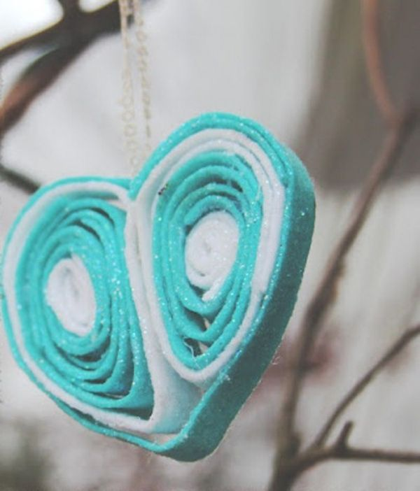 DIY whimsy heart ornaments look divine