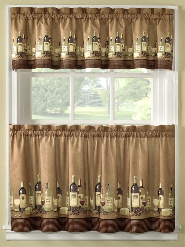 DIY vintage cafe curtains