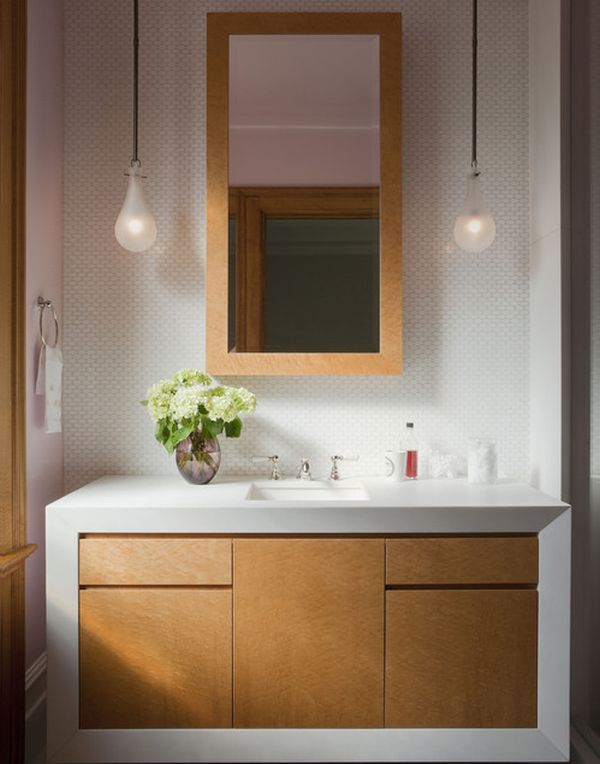 Vanity Lights For Bathroom ... Effervescent contemporary bathroom vanity design is perfect for the  chic home